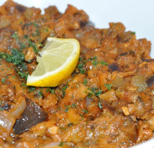 Gratin de riz aux aubergines et aux tomates  Cuisine Marocaine