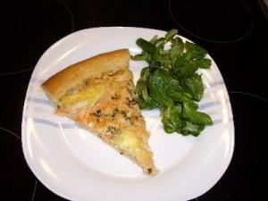 pizza et salade