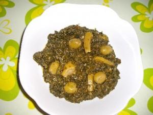 imgp0972 300x225 Salade d' épinards aux olives et citron confit (salade marocaine)