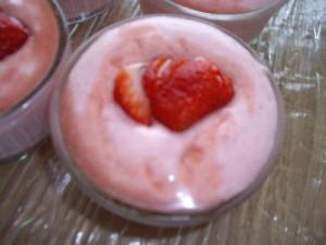 ramequin mousse fraise