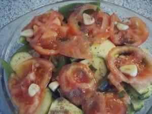 courg7 300x225 Gratin de courgette poivron et tomate