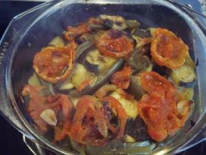 courg8 300x225 Gratin de courgette poivron et tomate