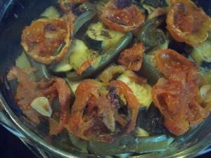courg9 300x225 Gratin de courgette poivron et tomate