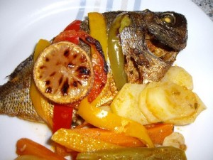 imgp1353 300x225 Daurade et ses petits légumes au four