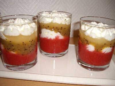 Verrines aux fruits et cr me chantilly les recettes de for Dessert aux fruits en verrine