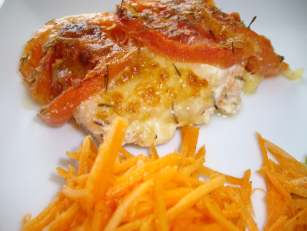 Papillote de saumon tomate mozzarella jardin d orante les recettes de la cuisine de asmaa - Saumon papillote au four ...