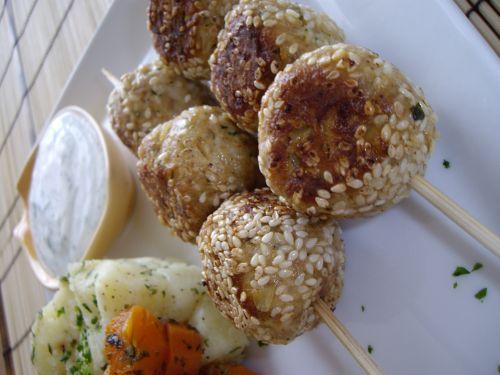 IMGP4043 Boulettes de poulet aux sésames