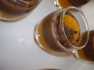 imgp4988 Verrines au Flan Chocolat et Gélifié de Mandarines