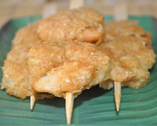 dsc 0061 Brochettes de Crevettes au Curry et Flocon davoine