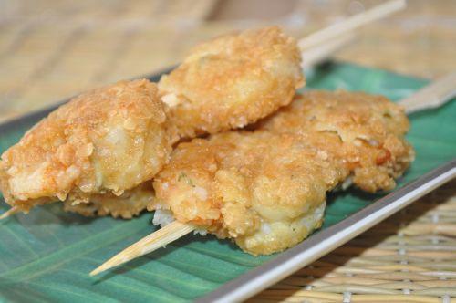 crevettes pannés aux flocon d'avoine
