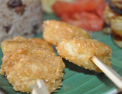 dsc 0071 Brochettes de Crevettes au Curry et Flocon davoine