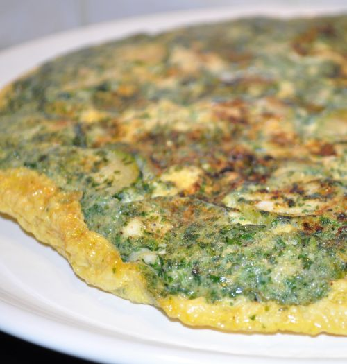 31 Omelette à la courgette et aux fines herbes
