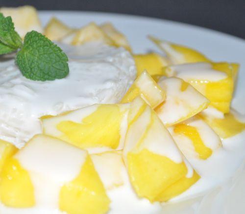 DSC 0022 Riz gluant au Lait de coco et Mangue
