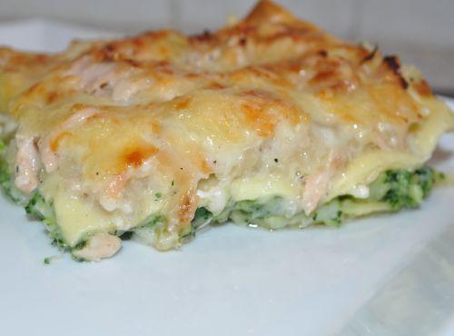 lasagnes au saumon et brocoli