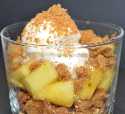 verrine pommes speculoos glace à la vanille