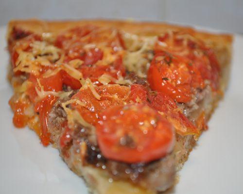 tarte tomate cerise viande hachée