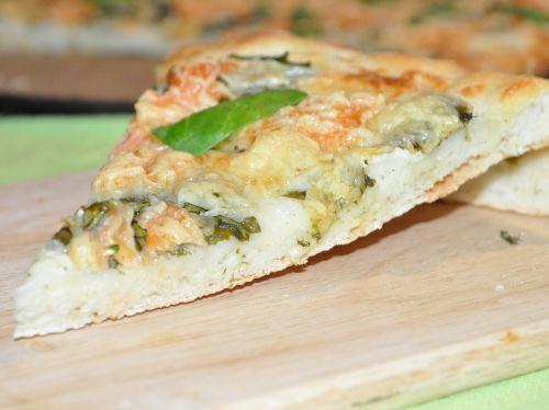 pizza de saumon fumé