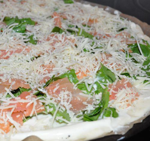 pizza aux épinards