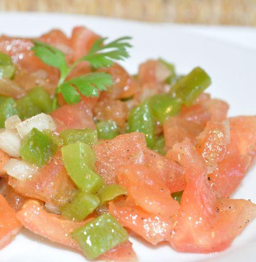 DSC 0026 Salade de tomates à la marocaine