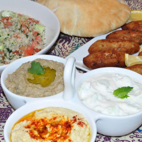 menu mezze libanais