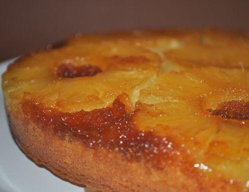 DSC 00791 Gâteau à lananas caramélisé