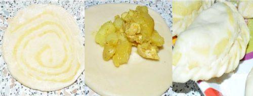 chausson de poulet au curry