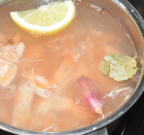 bouillon de crevette