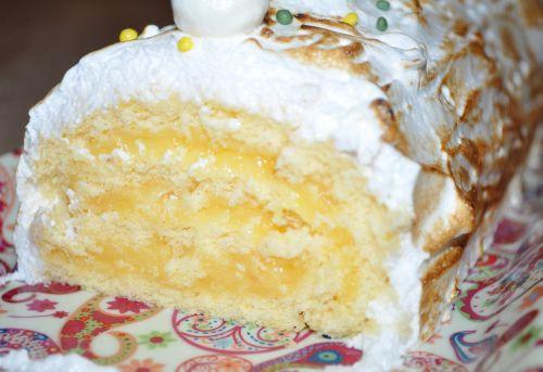 DSC 0068 Bûche façon tarte au citron meringuée