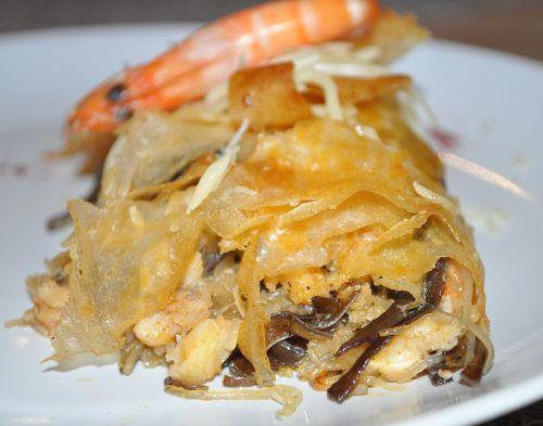 DSC 0110 Pastilla au poisson et aux crevettes