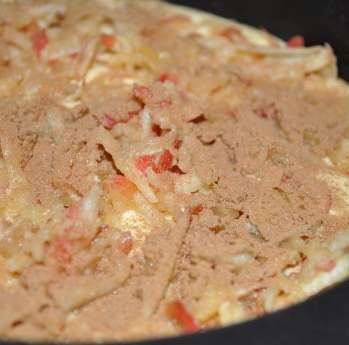 DSC 0150 Gâteau aux pommes et à la cannelle