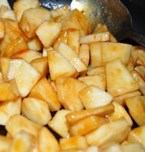 pommes caramélisés