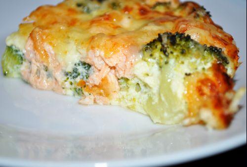 tarte saumon et brocolis