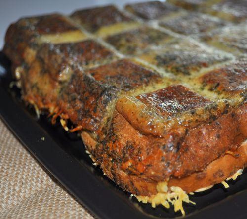 croque tablette au saumon et pesto