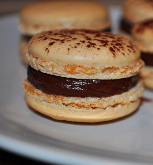 macaron vanille chocolat