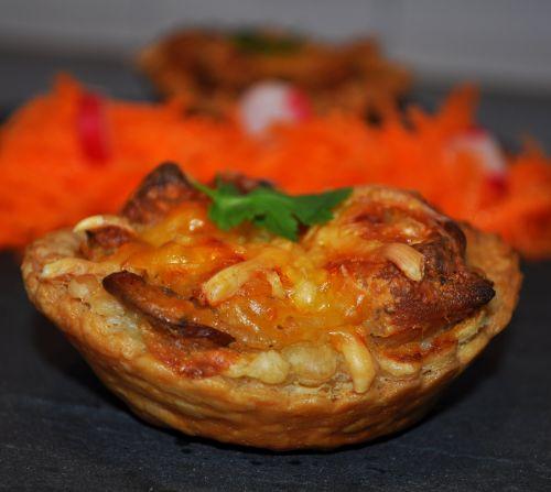 recette tarte salée Tarte au poulet et champignons