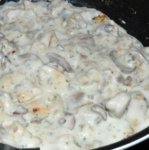 sauce bechamel Tarte au poulet et champignons
