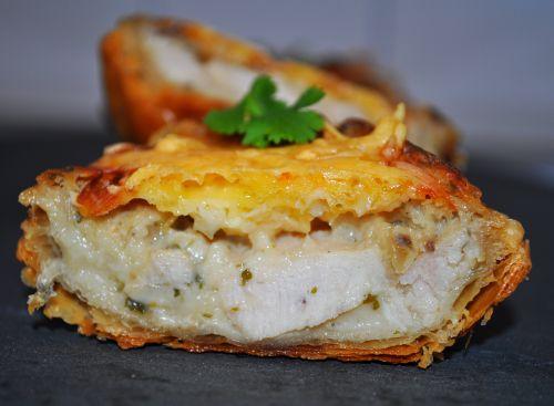 tarte champignon poulet Tarte au poulet et champignons