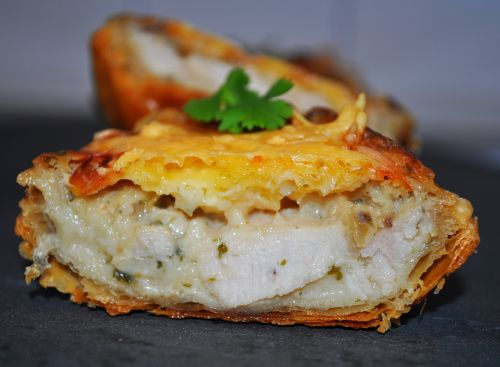 tarte champignon poulet