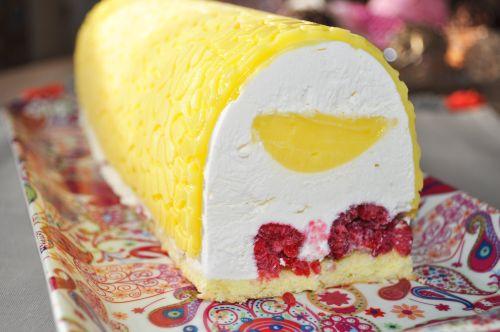 buche citron framboise