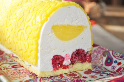 buche framboise citron Bûche Citron Framboises