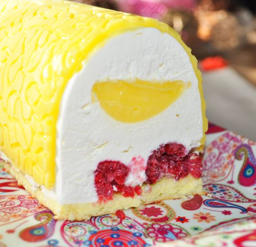 buche lemon Bûche Citron Framboises