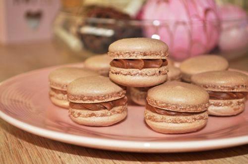macaron au chocolat