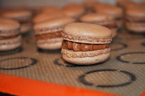 macaron ganache chocolat