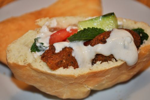 sandwich de falafel Les Falafels