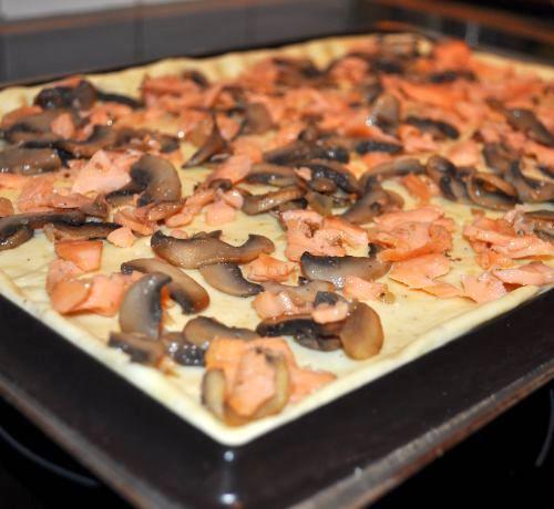 pate a pizza icookin Pizza Quiche au saumon