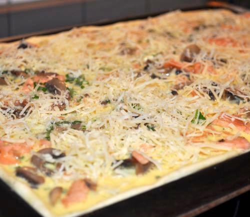 pizza au flexipan Pizza Quiche au saumon