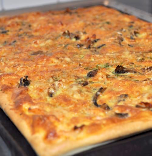 pizza au saumon Pizza Quiche au saumon