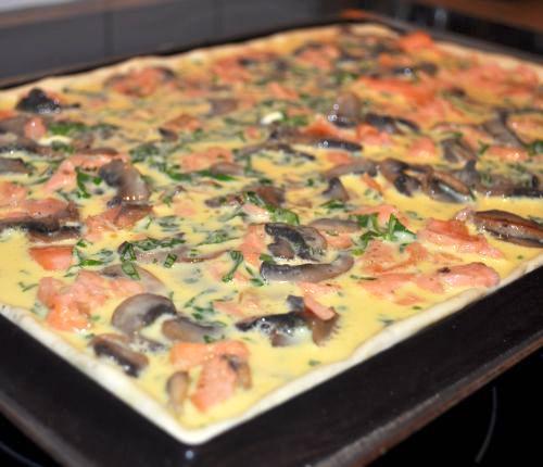 pizza quiche Pizza Quiche au saumon