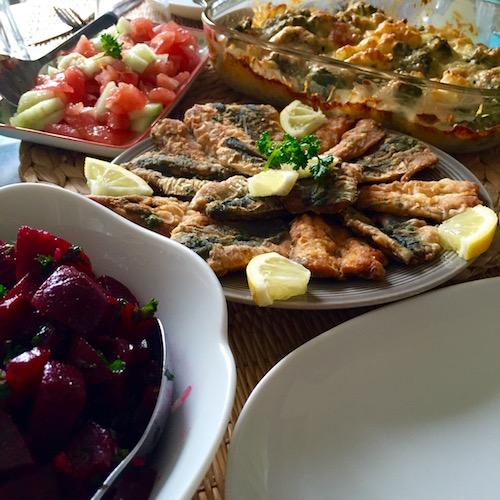 sardines frit avec charmoula