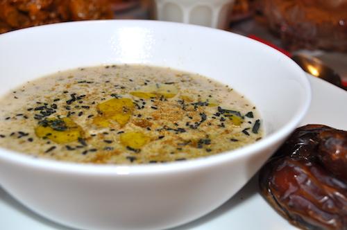 soupe marocaine Soupe aux flocons davoine   Hssoua